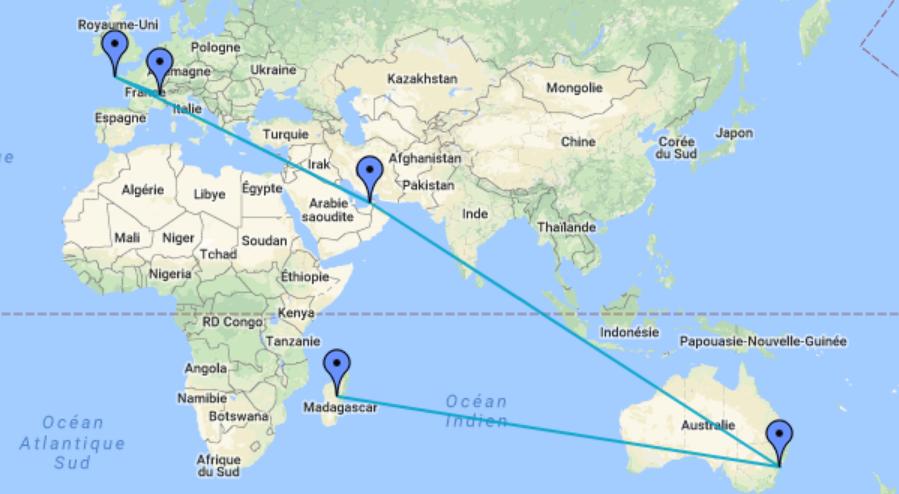 Itinéraires en ligne